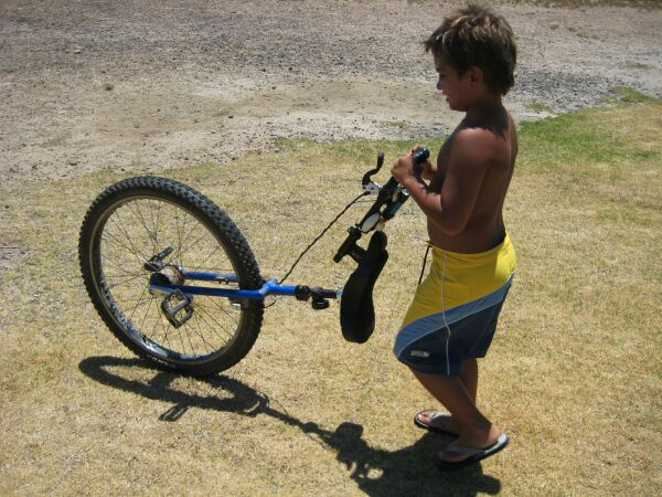 Tiny unicyclist in the making...