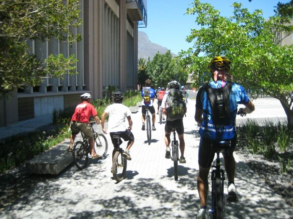 Unicyclists with a posse!